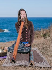 Audrya Chancellor, Mendocino, Mendocino Sound Healing, Didgeridoo, Ocean